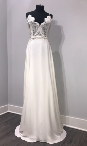 Front Highness by Sarah Seven - White Satin Bridal Boutique Ottawa - Designer & Luxury Wedding Gown - Off the rack & custom order - Bridal Seamstress