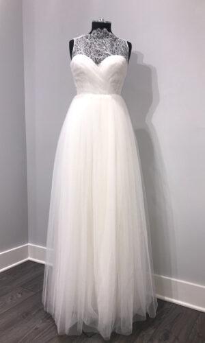 Front Wilde by Sarah Seven - White Satin Bridal Boutique Ottawa - Designer & Luxury Wedding Gown - Off the rack & custom order - Bridal Seamstress