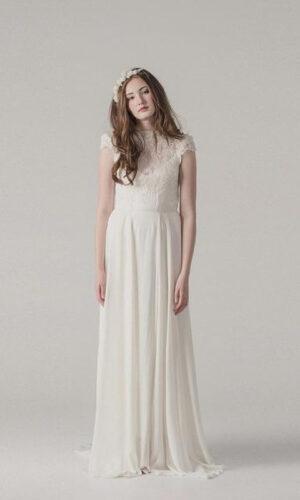 Bijou Front by Sarah Seven - White Satin Bridal Boutique Ottawa - Designer & Luxury Wedding Gown - Off the rack & custom order - Bridal Seamstress