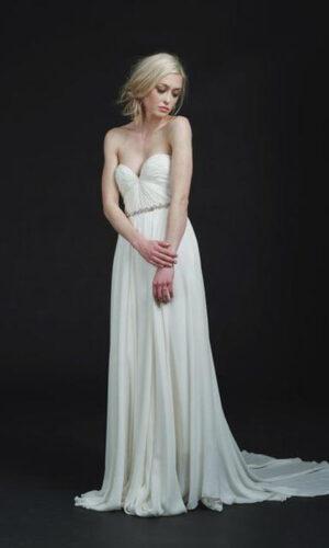 Keats Front by Sarah Seven - White Satin Bridal Boutique Ottawa - Designer & Luxury Wedding Gown - Off the rack & custom order - Bridal Seamstress