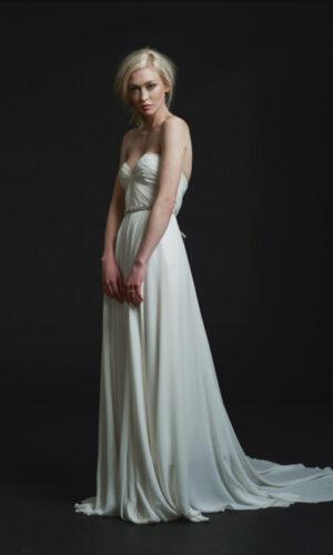 Keats Side by Sarah Seven - White Satin Bridal Boutique Ottawa - Designer & Luxury Wedding Gown - Off the rack & custom order - Bridal Seamstress