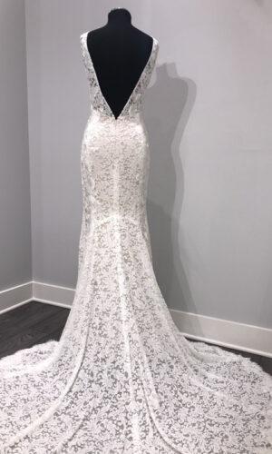 Back Bluma by Willowby - White Satin Bridal Boutique Ottawa - Designer & Luxury Wedding Gown - Off the rack & custom order - Bridal Seamstress