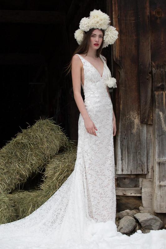 Front Bluma by Willowby - White Satin Bridal Boutique Ottawa - Designer & Luxury Wedding Gown - Off the rack & custom order - Bridal Seamstress