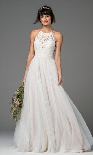 Front Esperance by Willowby - White Satin Bridal Boutique Ottawa - Designer & Luxury Wedding Gown - Off the rack & custom order - Bridal Seamstress