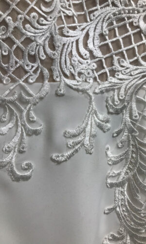 Close Up Haizea by Willowby - White Satin Bridal Boutique Ottawa - Designer & Luxury Wedding Gown - Off the rack & custom order - Bridal Seamstress