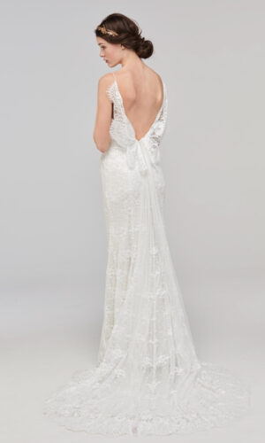 Back Papella by Willowby - White Satin Bridal Boutique Ottawa - Designer & Luxury Wedding Gown - Off the rack & custom order - Bridal Seamstress