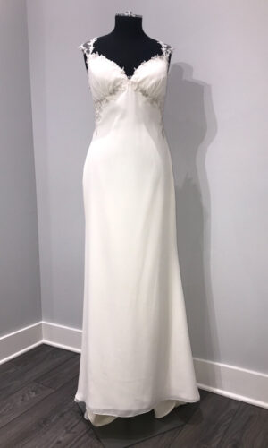 Front Rosalie by Willowby - White Satin Bridal Boutique Ottawa - Designer & Luxury Wedding Gown - Off the rack & custom order - Bridal Seamstress