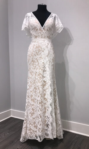 Front Udara by Willowby - White Satin Bridal Boutique Ottawa - Designer & Luxury Wedding Gown - Off the rack & custom order - Bridal Seamstress
