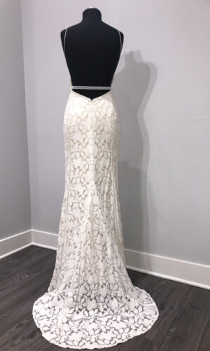 Back Vivienne by Willowby - White Satin Bridal Boutique Ottawa - Designer & Luxury Wedding Gown - Off the rack & custom order - Bridal Seamstress