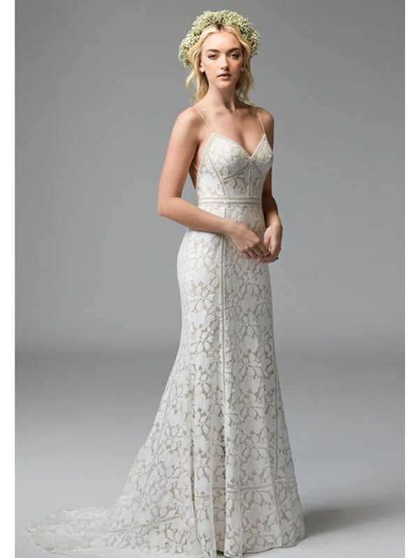 Front Vivienne by Willowby - White Satin Bridal Boutique Ottawa - Designer & Luxury Wedding Gown - Off the rack & custom order - Bridal Seamstress