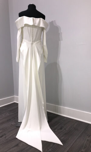 Back Elensia by Wtoow by Watters - White Satin Bridal Boutique Ottawa - Designer & Luxury Wedding Gown - Off the rack & custom order - Bridal Seamstress