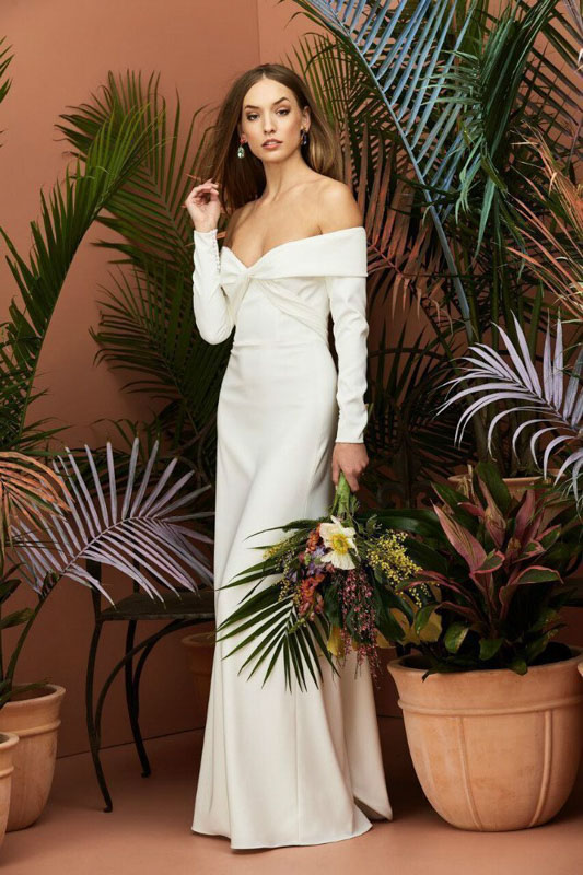 Front Elensia by Wtoow by Watters - White Satin Bridal Boutique Ottawa - Designer & Luxury Wedding Gown - Off the rack & custom order - Bridal Seamstress