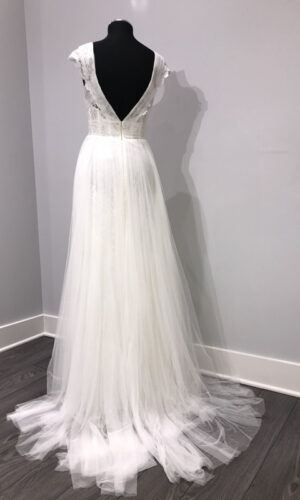 Back Fairley by Wtoow by Watters - White Satin Bridal Boutique Ottawa - Designer & Luxury Wedding Gown - Off the rack & custom order - Bridal Seamstress