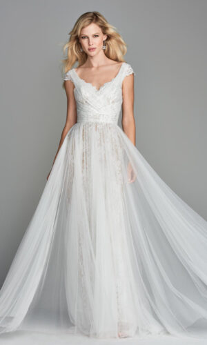 Front Fairley by Wtoow by Watters - White Satin Bridal Boutique Ottawa - Designer & Luxury Wedding Gown - Off the rack & custom order - Bridal Seamstress