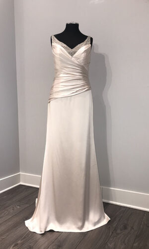 Front of Alvina Valenta 9367 - White Satin Bridal Boutique Ottawa - Designer & Luxury Wedding Gown - Off the rack & custom order - Bridal Seamstress