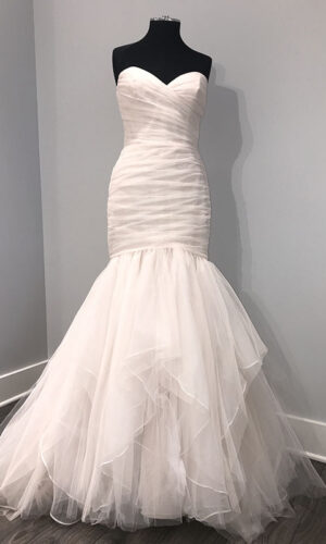 Front Front Alvina Valenta 9706 - White Satin Bridal Boutique Ottawa - Designer & Luxury Wedding Gown - Off the rack & custom order - Bridal Seamstress