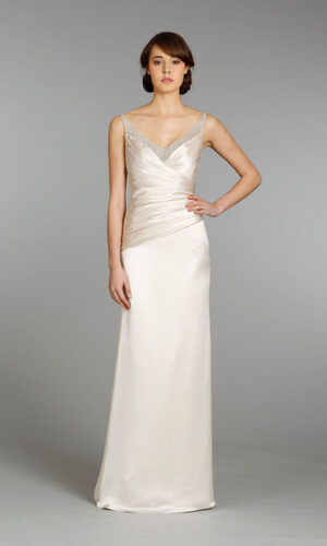 Alvina Valenta Front 9367 - White Satin Bridal Boutique Ottawa - Designer & Luxury Wedding Gown - Off the rack & custom order - Bridal Seamstress