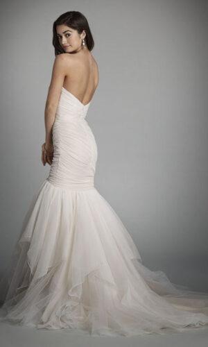 Alvina Valenta 9706 Back - White Satin Bridal Boutique Ottawa - Designer & Luxury Wedding Gown - Off the rack & custom order - Bridal Seamstress