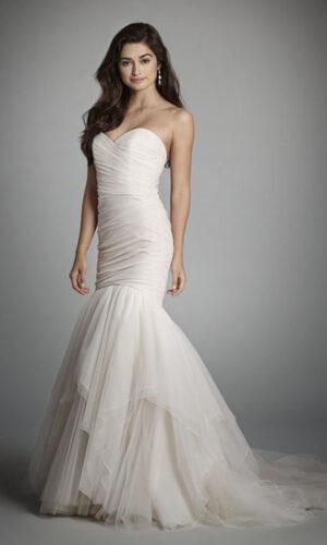 Front Alvina Valenta 9706 - White Satin Bridal Boutique Ottawa - Designer & Luxury Wedding Gown - Off the rack & custom order - Bridal Seamstress