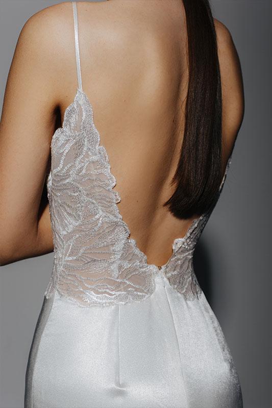 Alena Leena Dress 2 Back - White Satin Bridal Boutique Ottawa - Designer & Luxury Wedding Gown - Off the rack & custom order - Bridal Seamstress