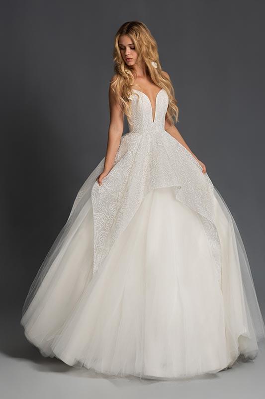 Hayley Paige Blush 3 Dress - White Satin Bridal Boutique Ottawa - Designer & Luxury Wedding Gown - Off the rack & custom order - Bridal Seamstress