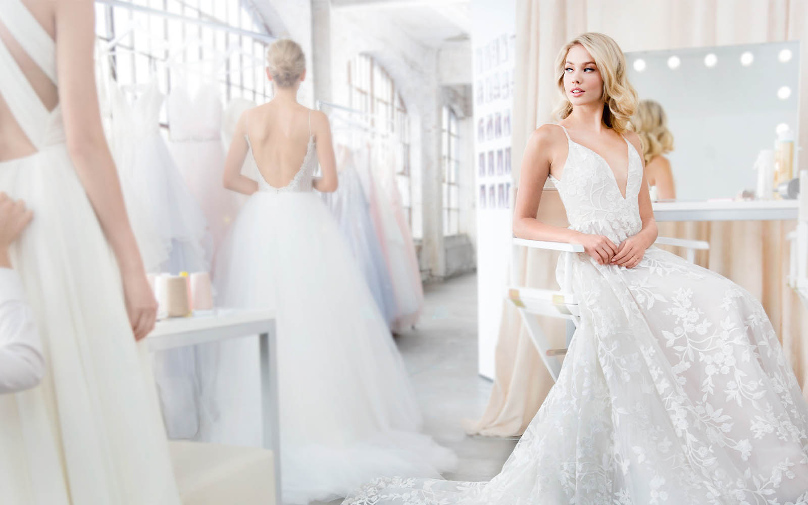 Hayley Paige Dresses - White Satin Bridal Boutique Ottawa - Designer & Luxury Wedding Gown - Off the rack & custom order - Bridal Seamstress