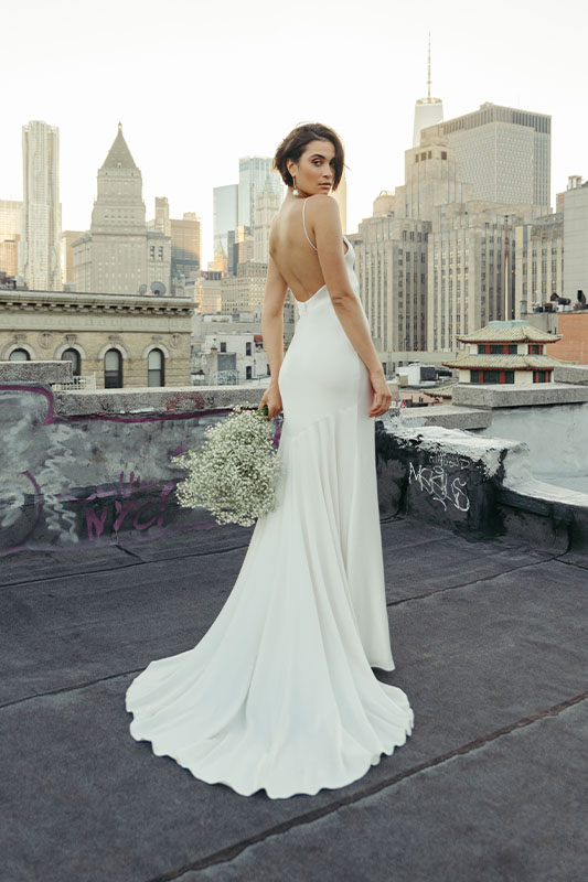 Jenny by Jenny Yoo Rooftop Baby Breath Flowers - White Satin Bridal Boutique Ottawa - Designer & Luxury Wedding Gown - Off the rack & custom order - Bridal Seamstress