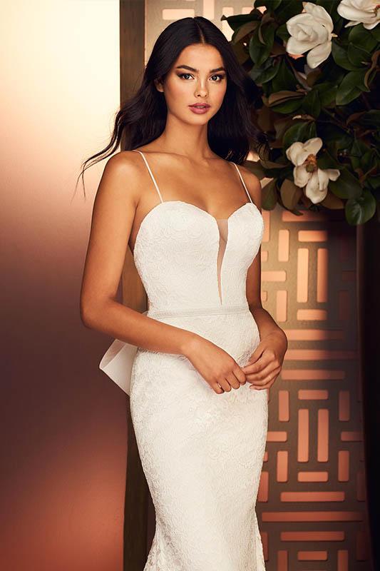 Paloma Blanca 3 - White Satin Bridal Boutique Ottawa - Designer & Luxury Wedding Gown - Off the rack & custom order - Bridal Seamstress