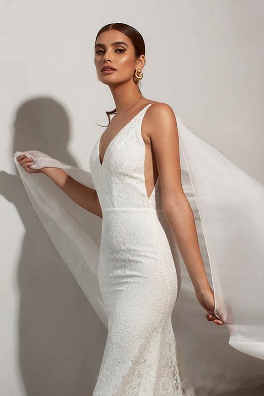 Sarah Seven 2 Dress - White Satin Bridal Boutique Ottawa - Designer & Luxury Wedding Gown - Off the rack & custom order - Bridal Seamstress